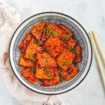 Korean braised tofu.