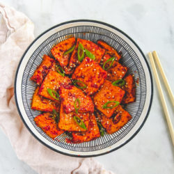 Korean braised tofu.