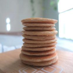 a stack of mini pancake,