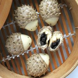 hedgehog black sesame steamed buns.