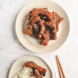 Chinese braised pork rib with rice.
