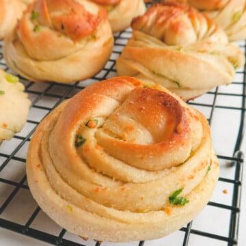 Parmesan scallion garlic rolls.