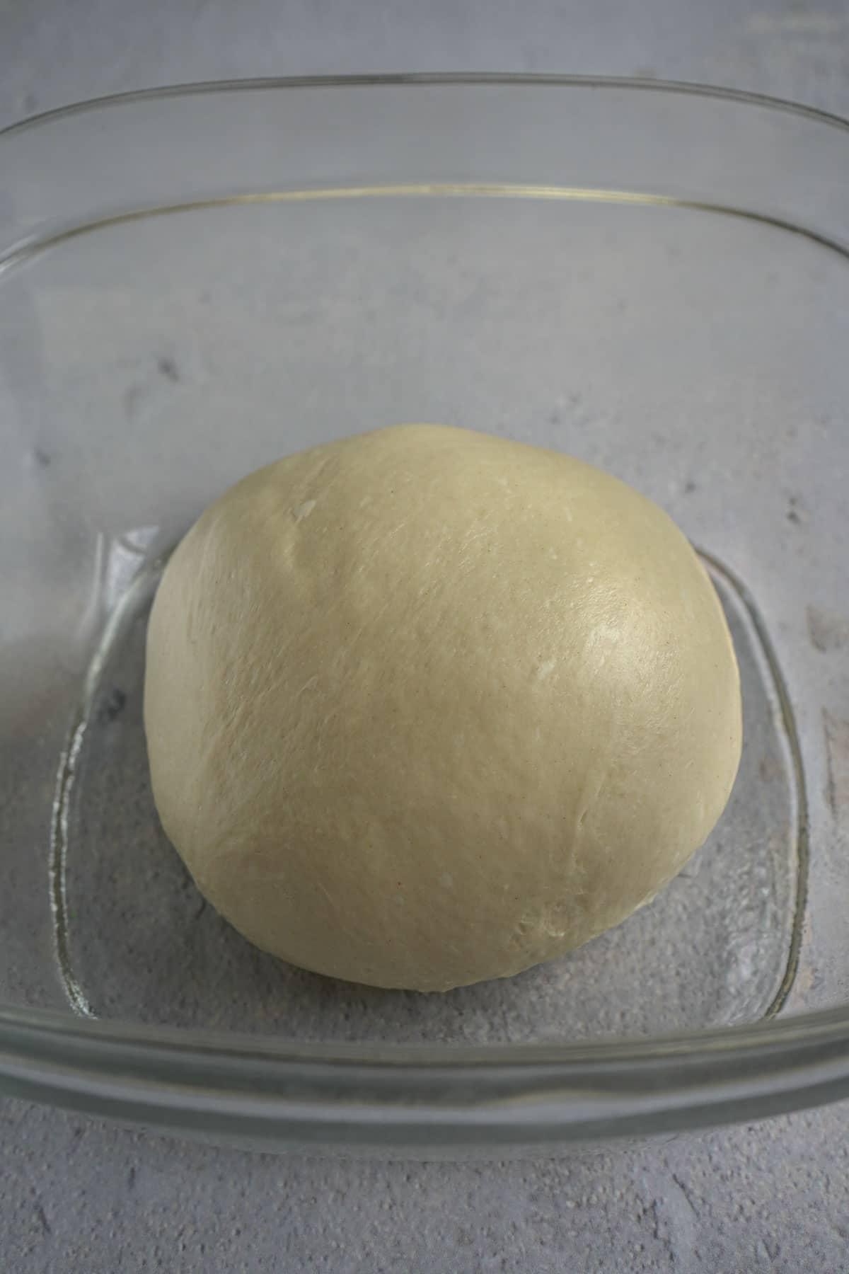 milk bun dough before first proof.