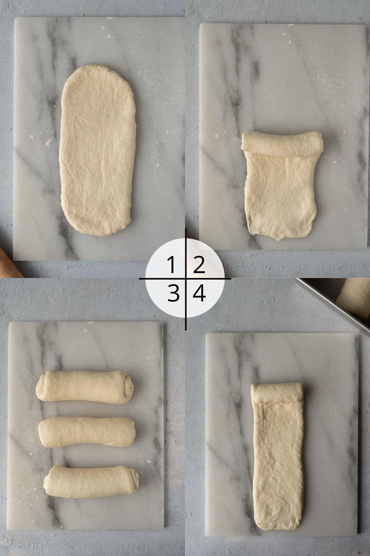 How to shape milk bread dough.