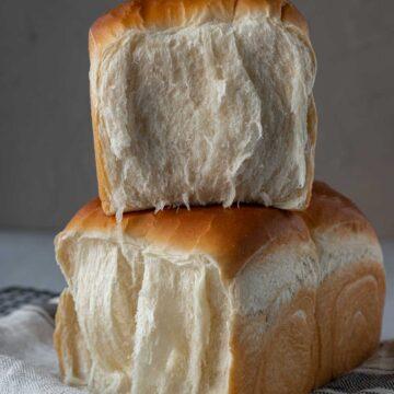 Inside of milk bread.