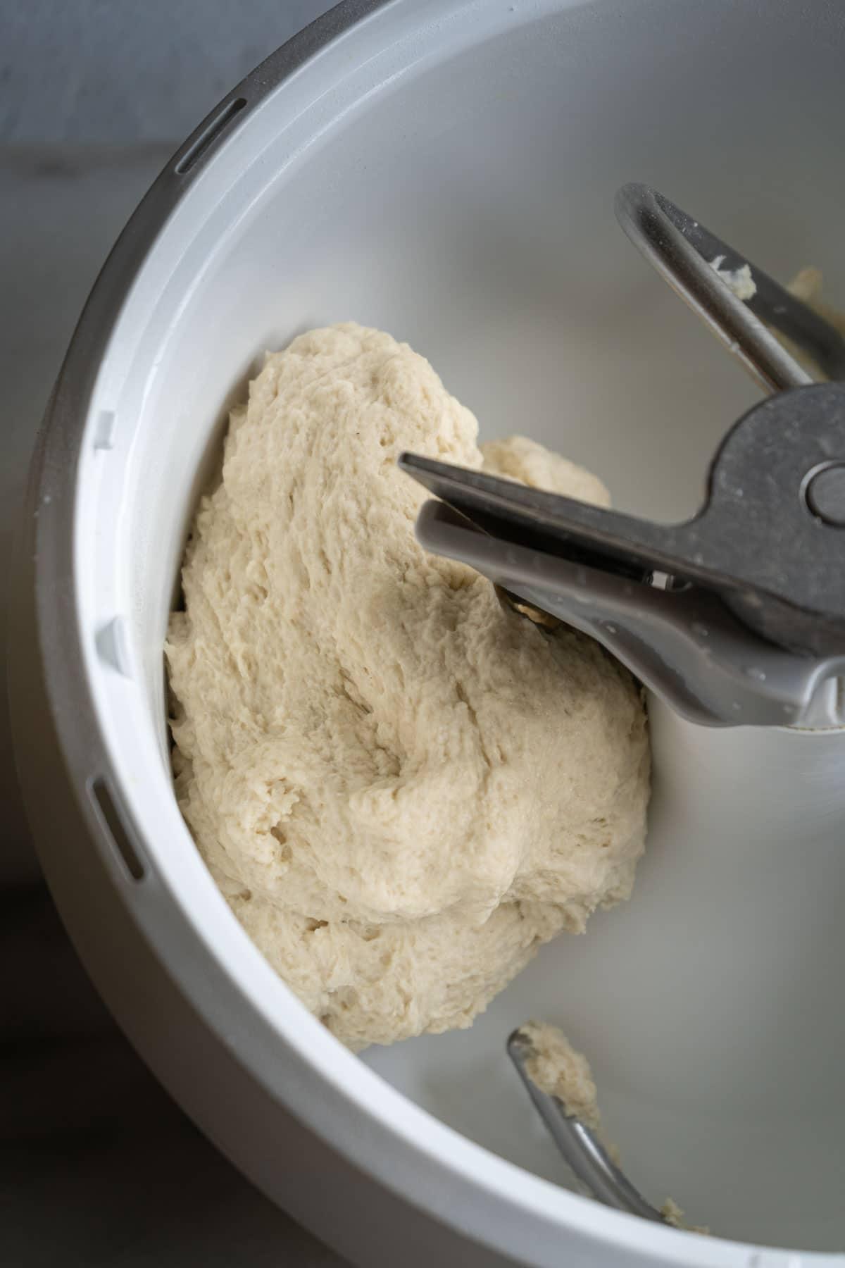 rough milk bread dough.