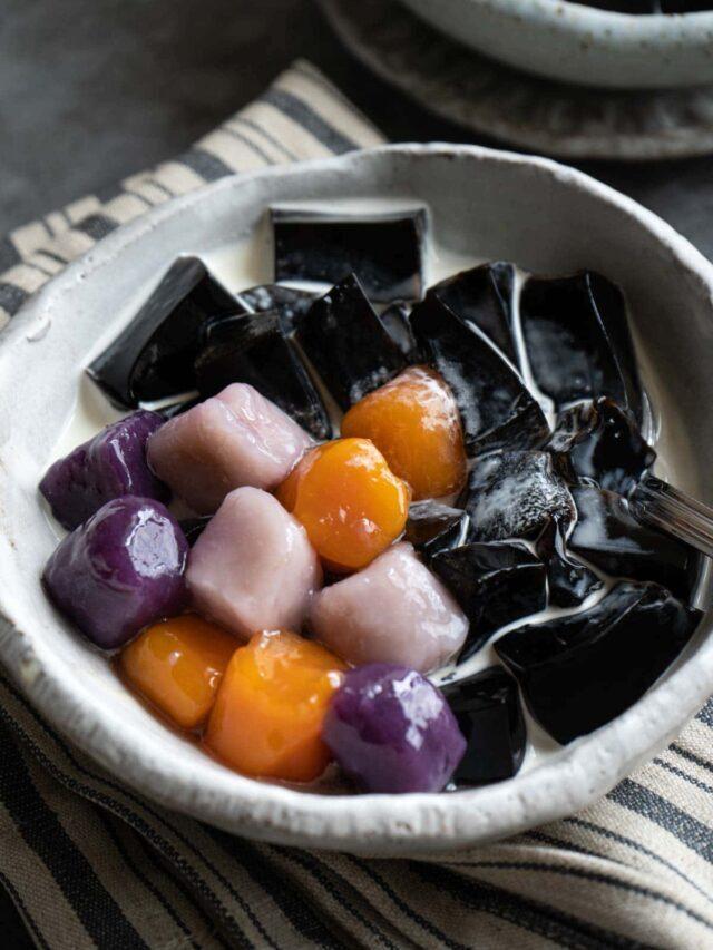Taro Balls and Sweet Potato Balls