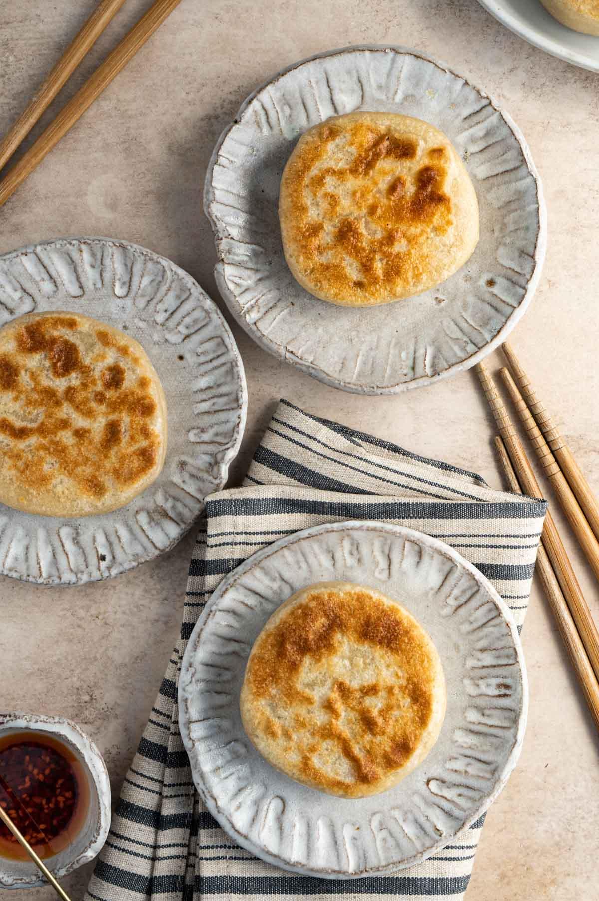 three Chinese meat pie.