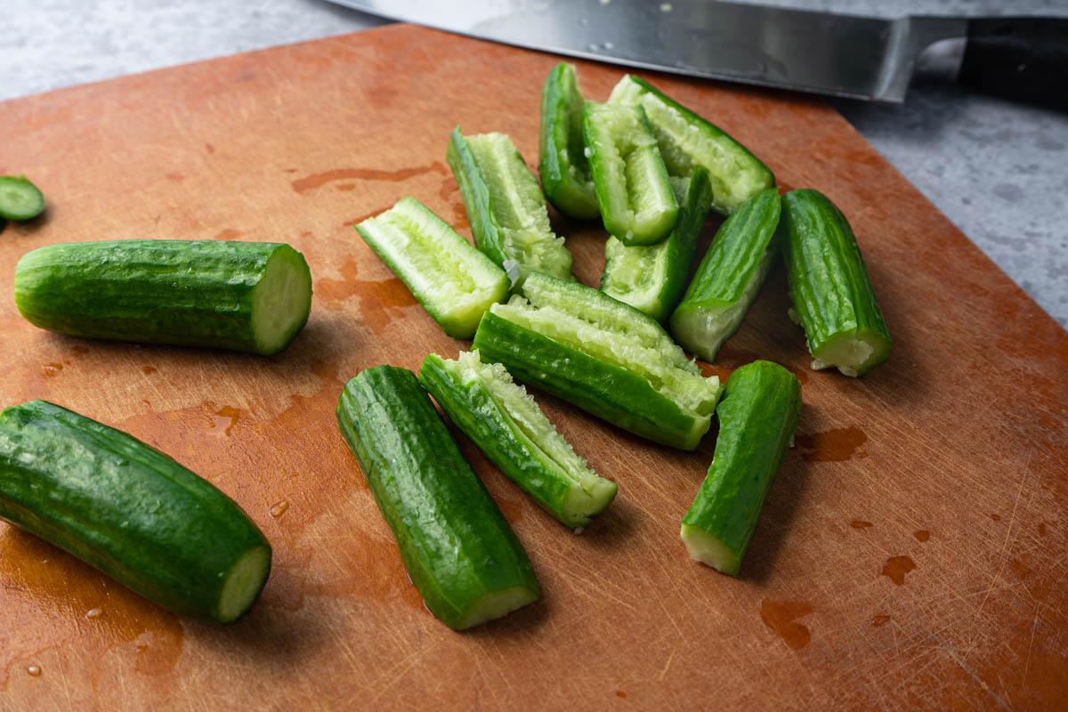 Smashed cucumber.