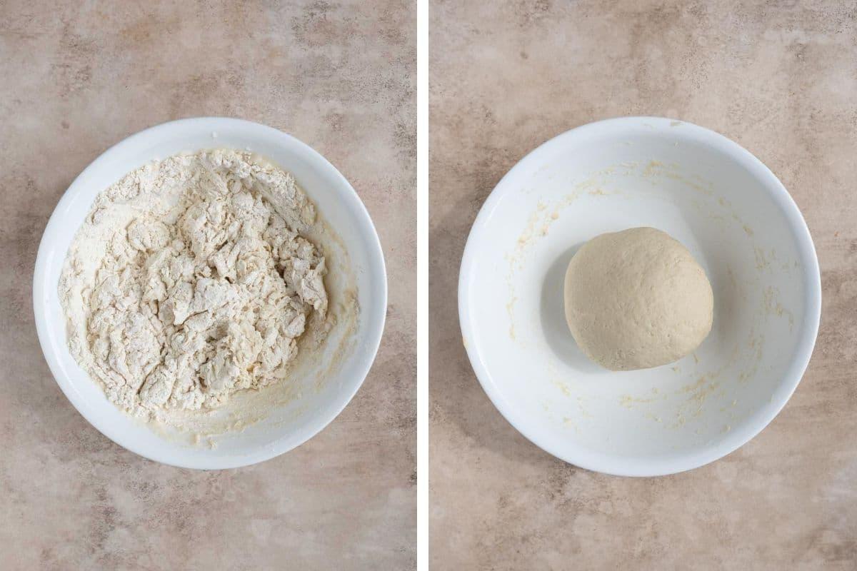 Xian bing dough process shot.